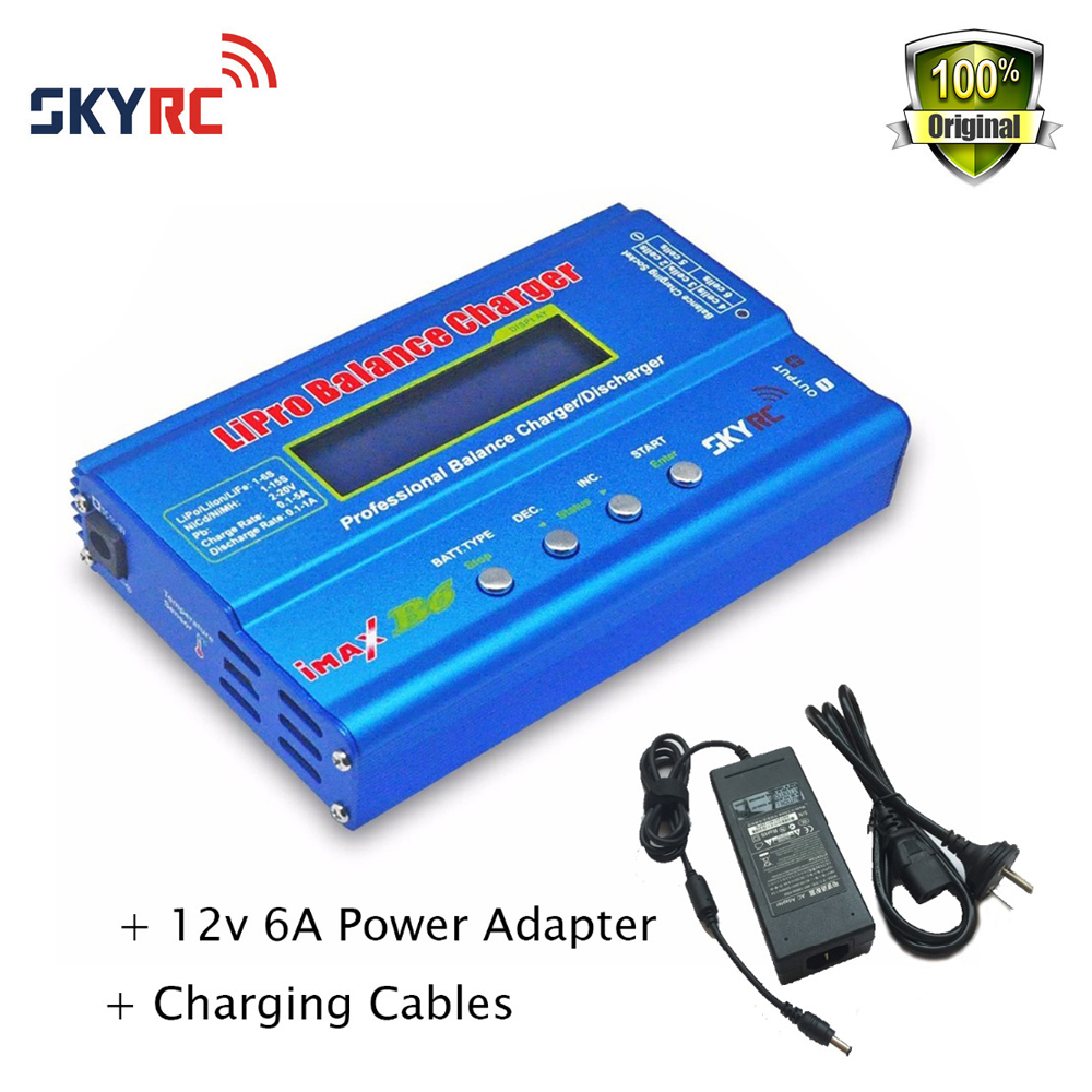 Originl Skyrc Imax B6 Rapid Lipo NiMh Battery Balance Charger/Discharger with power adaptor for RC Helicopter Toys skyrc d100 2 100w ac dc dual balance charger 10a charge 5a discharge nimh lipo battery charger twin channel charge