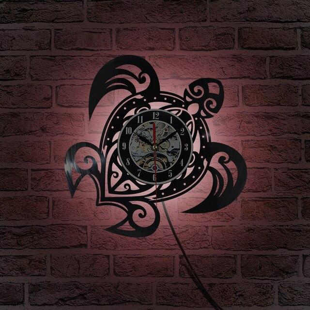 7 color led light wall clock backlight vinyl clocks color changing 7 color led light wall clock backlight vinyl clocks color changing home decor night lamp aloadofball Images