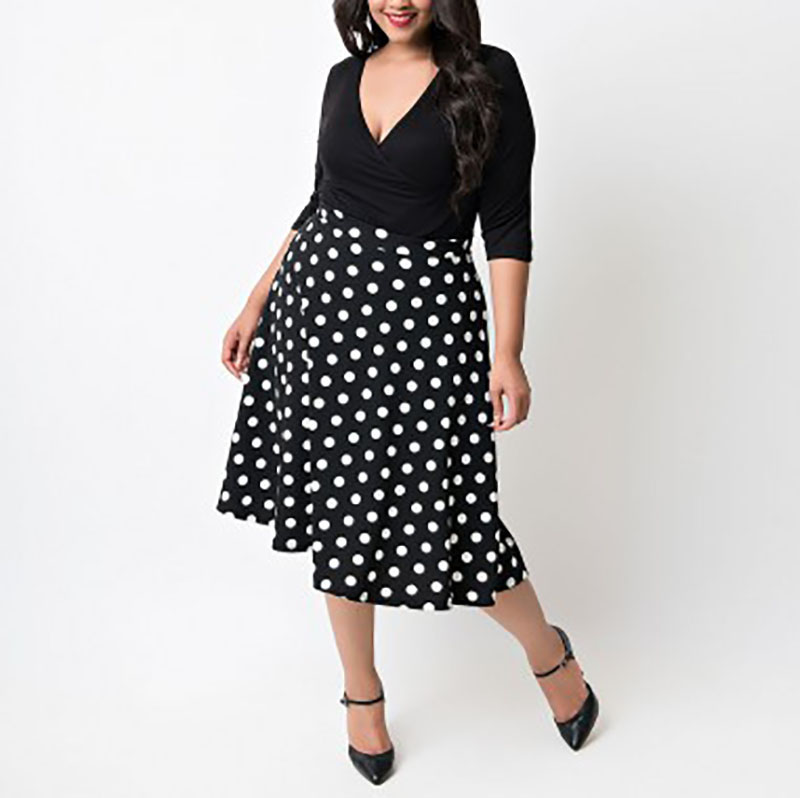Maternity Clothes 2018 Summer Women Polka Dot Print Dress Sexy V Neck 3/4 Sleeve Patchwork Pregnancy Vestidos Plus Size L-5XL
