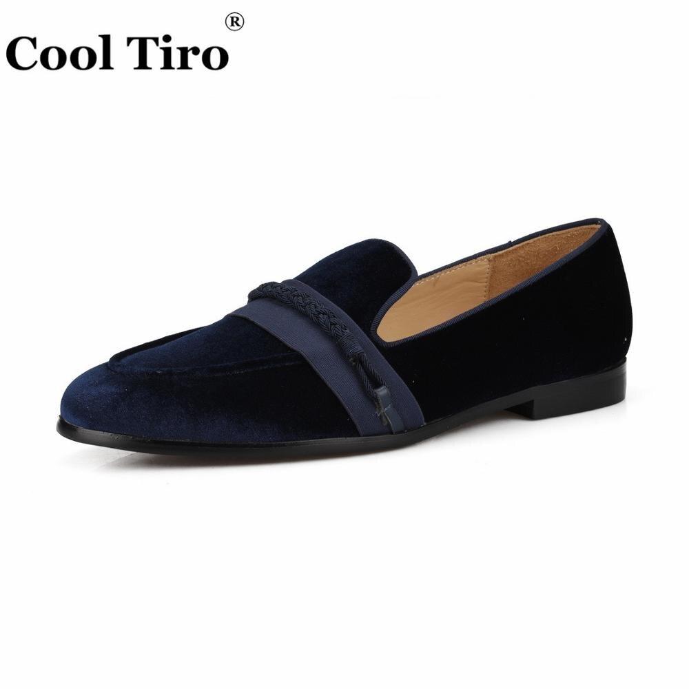 Cool Tiro mocassins hommes tressage mocassins hommes velours robe chaussures pantoufles fumer sans lacet appartements en cuir véritable chaussures décontractées-in Chaussures d'affaires from Chaussures    3