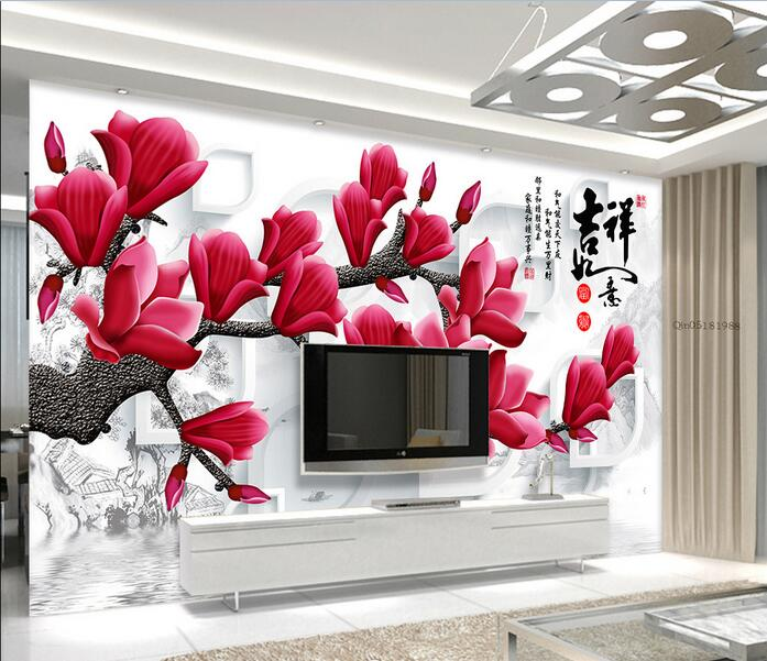Wallpaper Flower Stereoscopic Orchid Dream Photo Wall Murals Clic For Walls