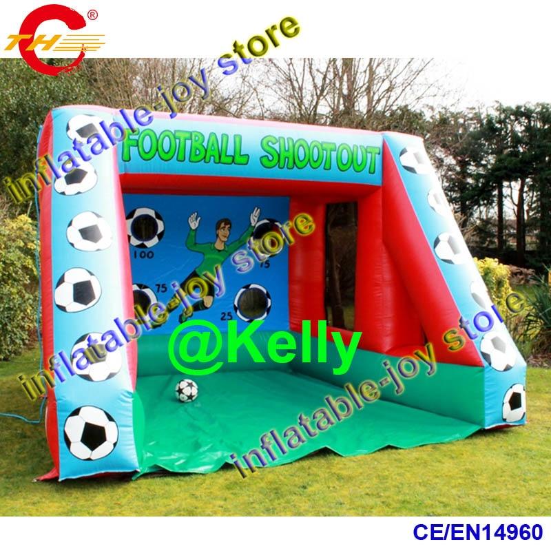 Aliexpress Com Buy G319 Soccer Shooting Custom: 4x3x3mH Free Shipping Inflatable Football Shootout Game