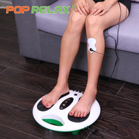 POP RELAX Electric foot massager slimmer stimulator acupuncture health care electrical Muscle Stimulation tens machine massage