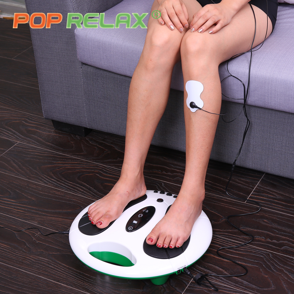 POP RELAX Electric foot massager slimmer stimulator acupuncture health care electrical Muscle Stimulation tens machine massage electric antistress therapy rollers shiatsu kneading foot legs arms massager vibrator foot massage machine foot care device hot