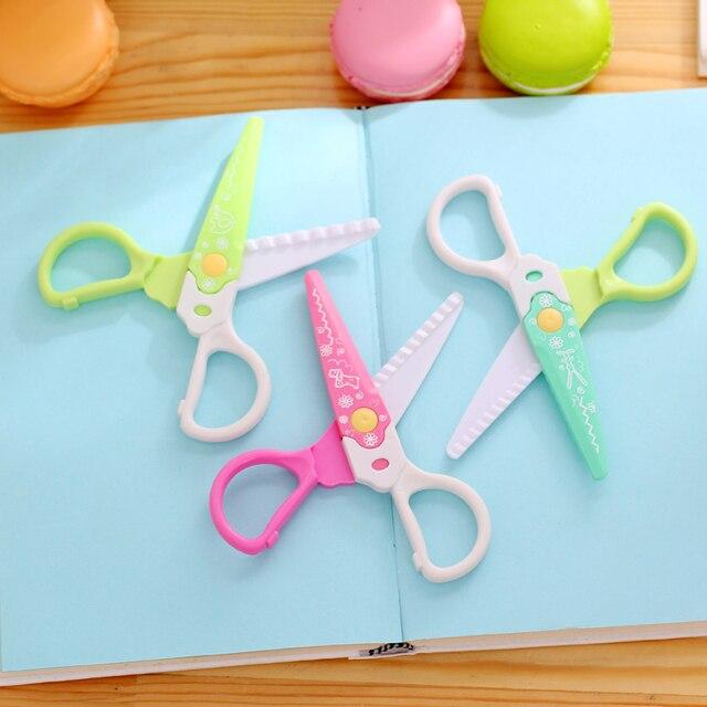 Us 889 10 Off6 Sztukpaczka Dziecko Safty Plastikowe Diy Nożyczki Rzemieślnicze Dekoracyjne Krawędzi Nożyczki Fale Zdjęcia Diy Papieru Sztuki