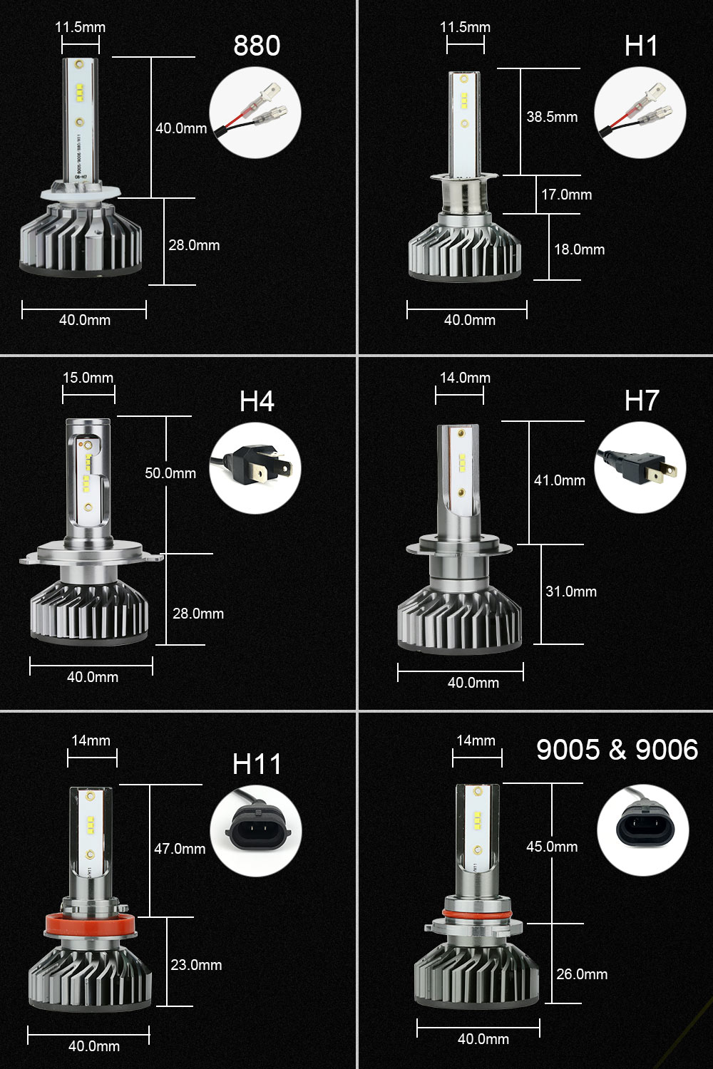 HTB12M7eBZyYBuNkSnfoq6AWgVXa8 Zdatt H7 LED H4 H1 LED H11 H8 9005 9006 H9 HB3 Canbus Headlight Bulb Car Light 12000LM 100W 6000K 12V Auto Lamp No Radio Noise