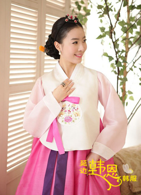Custom Made Korean Hanbok Bride Wedding Gown Dresses Korean ...