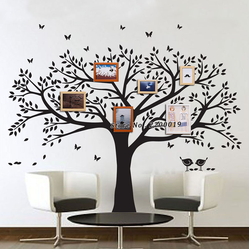 Oversized 265x210cm Family Tree Decal Extra Large Wall Stickers Home