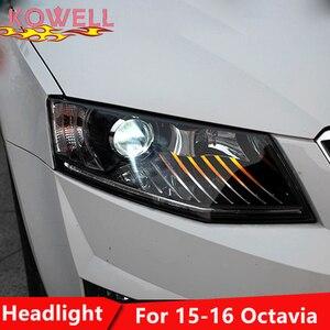 Автомобильный Стайлинг KOWELL, фара для Skoda Octavia, светодиодные фары, ангельские глаза, ДХО, биксеноновые линзы, автомобильные аксессуары