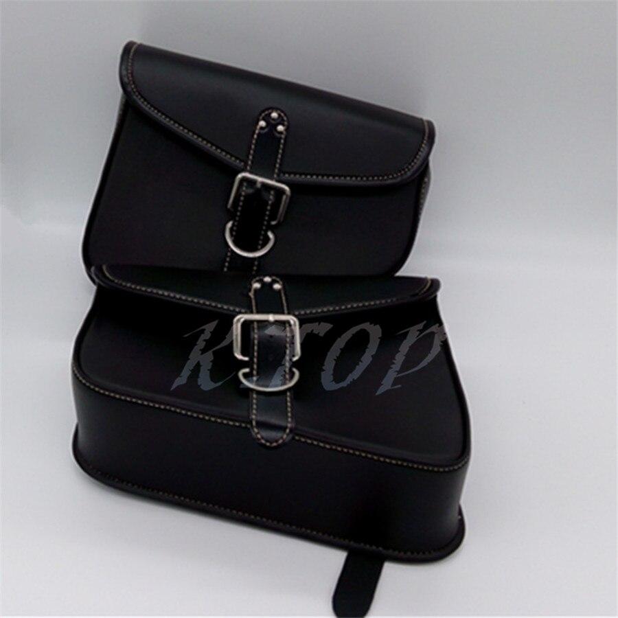 1Pair Motorcycle PU Leather Saddlebag Saddle Bag Luggage Bag Fit For Harley Sportster XL 883