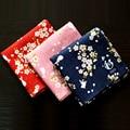 Nueva Llegada Del Estilo Japonés Agradable Pañuelos Para Las Mujeres Floral y Del Patrón Del Conejo Grande SY512 Pañuelos Cuadrados Toalla de Alta Calidad