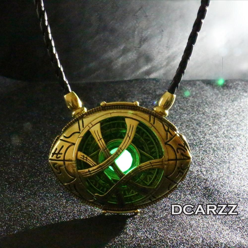 Big Grow In Dark Doctor Strange Necklace Eye Shape Antique