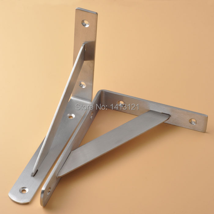 1pcs 20*15cm stainless steel wall bracket household hardware part kitchen storage support shelf triangle bulkhead stand 2 pieces 170mm stainless steel bracket household hardware wall bracket shelf support bracket furniture part item supply