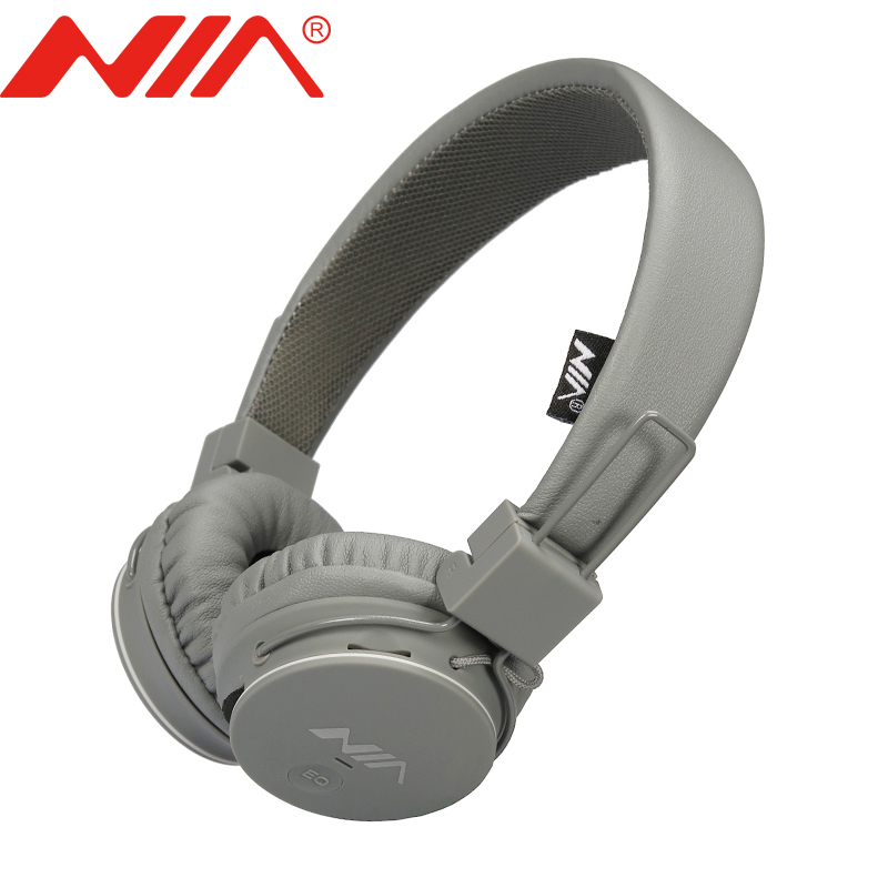 Original NIA 1682 Wireless Stereo Headphones Foldable Sport EQ Earphone Free Shipping with Mic Support TF Card FM Radio Headset