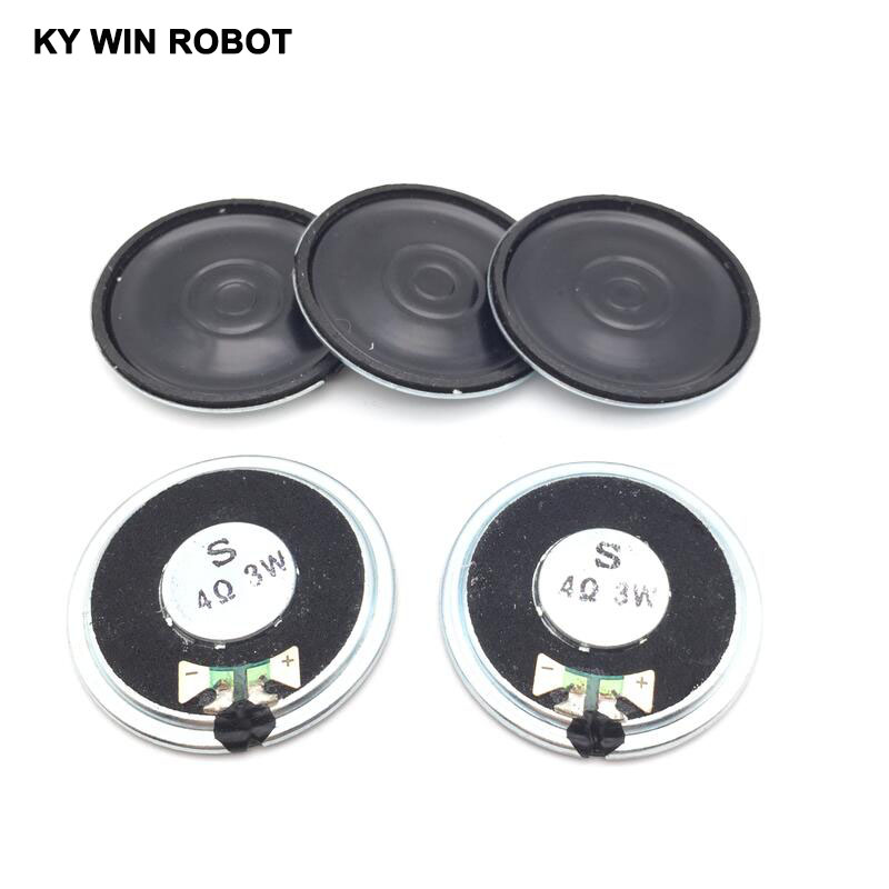 5pcs/lot New Ultra-thin Speaker 4 Ohms 3 Watt 3W 4R Speaker Diameter 40MM 4CM Thickness 5MM