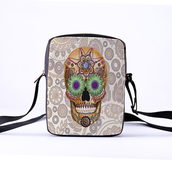 Skull Messenger Crossbody Bag 1