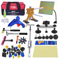 PDR Tools Kit For Car Professional Paintless Dent Repair Tool Auto Reflector Glue Gun Pulling Bridge Hammer Tool Hand Tools Sets