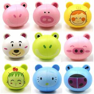 2015 New Convenient Cute Funny Cartoon Toothbrush Holder Mount With Suction Grip Wall Rack Bathroom Set image