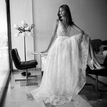 vestido de noiva boho Wedding Dresses Real Photo A line Sexy Bohemia Beach