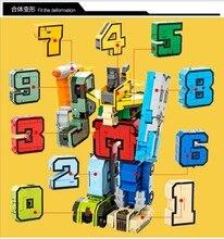 10 шт. робот кирпичи LegoINGs Творческий сборки развивающие экшн-фигура трансформера номер строительный блок модель детские игрушки