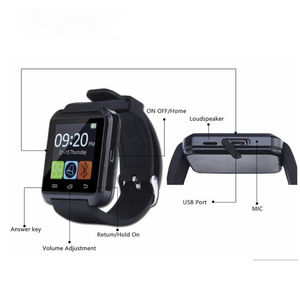 Image 3 - Nouvelle Smartwatch Bluetooth Sport montre intelligente U8 pour IPhone IOS Android téléphone intelligent usure horloge dispositif portable Smartwach GT08 DZ09