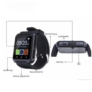 Image 3 - جديد ساعة ذكية بلوتوث الرياضة ساعة ذكية U8 آيفون IOS هاتف أندرويد ذكي ارتداء ساعة يمكن ارتداؤها جهاز Smartwach GT08 DZ09
