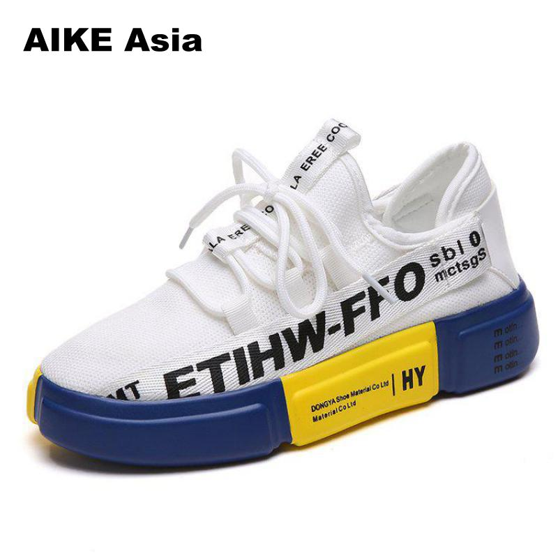 Summer Casual Flats Vulcanize Female Platform Ladies Woman Trainers Chaussure Femme Breathable Hip-hop Sneakers Shoes Women 2017 new chaussure homme mens shoes casual leather vulcanize hip hop white men platform summer hot sale breathable black shoes