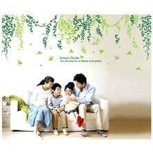 Новинка! Зеленые листья, модные креативные персональные настенные наклейки для гостиной, ванной комнаты, водонепроницаемые съемные наклейки из пвх высокого качества