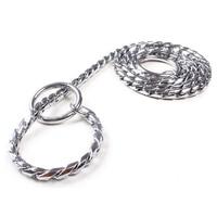 5mm Strong Chrome Metal Chain Dog Leash Adjustable Snake P Chock Training Collars Pet Supplies Lead