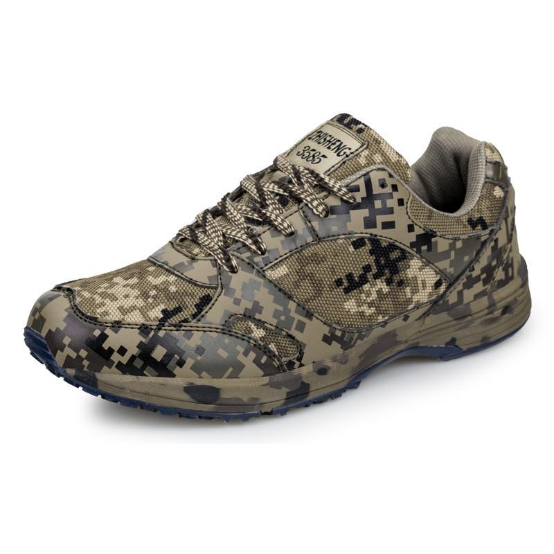Sport Outdoor Camouflage Runner Sko Kampsport Sko Desert Running Shoes Militær Trening Bomull Sneakers Sko For Menn
