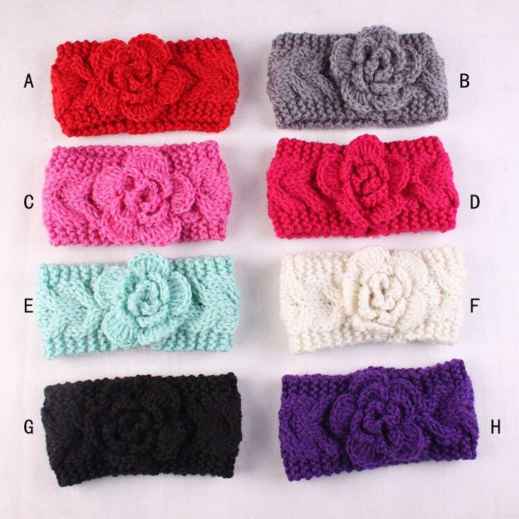 New Flower Headwear Crochet Headband For Girl Hair Accessories Ear