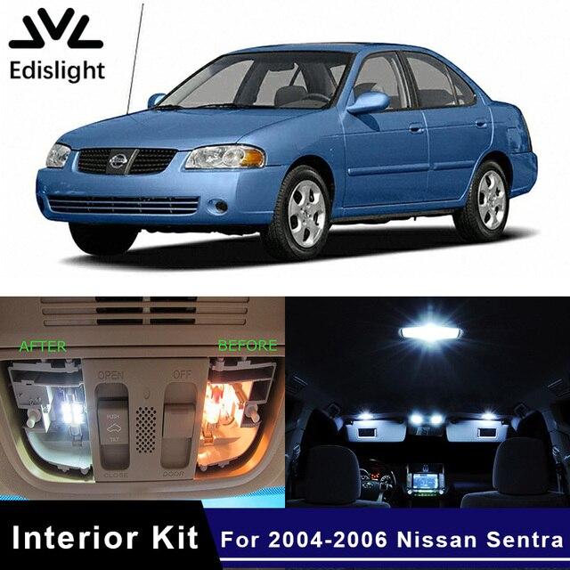 Edislight 9pcs White Ice Blue Led Lamp Car Bulbs Interior Package