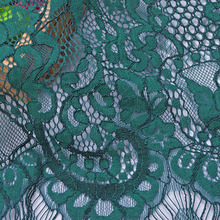 2016 African lace fabric Tassels high quality abric green French tulle for party dress  5 yard/lot
