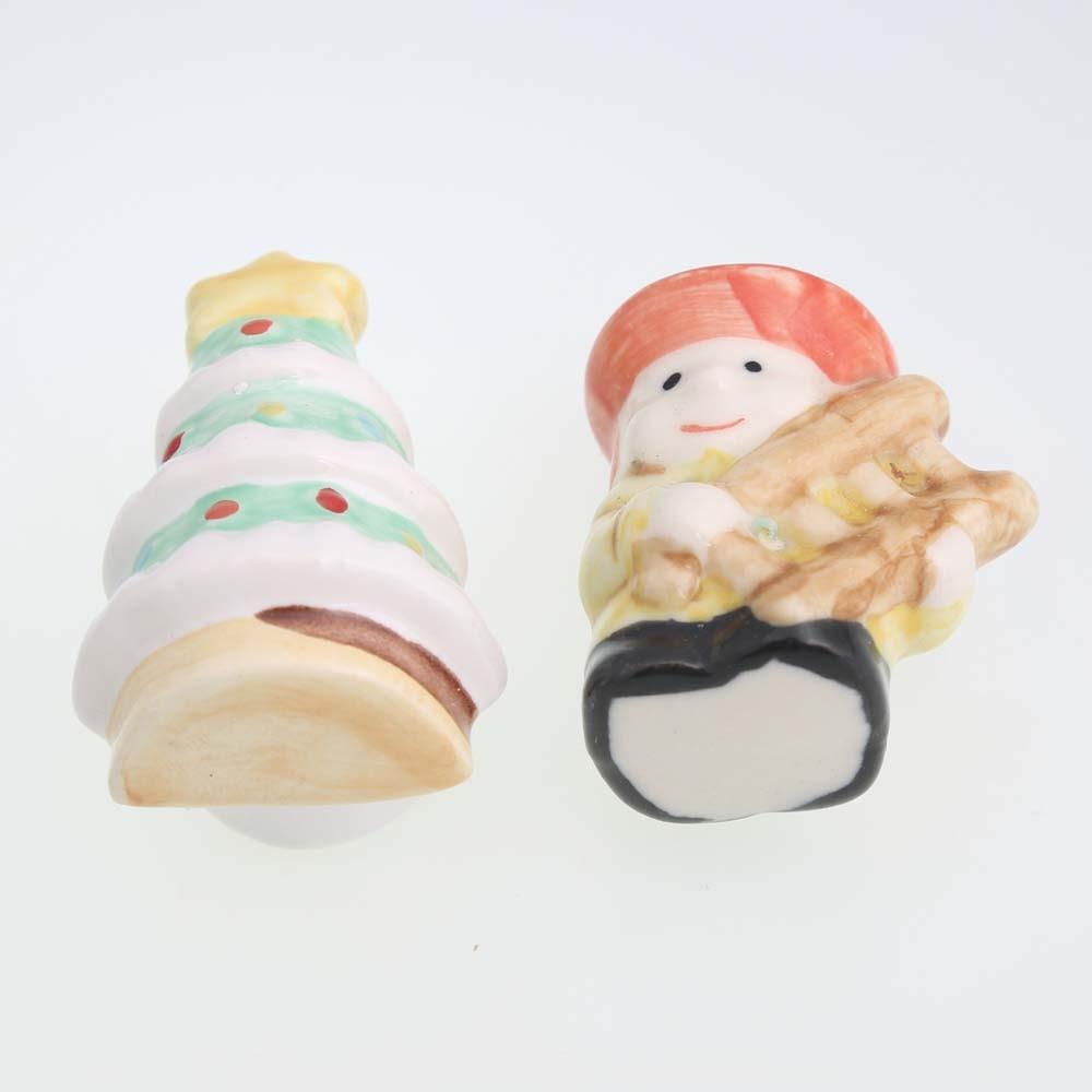 ceramic cartoon drawer cabinet knobs pulls Christmas Tree Dolls dresser door handle lovely porcelAin furniture door handles knob candy color bear ceramic drawer handle for children lovely furniture fittings