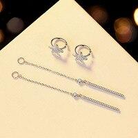 Women Fashion Jewelry Internet Celebrity Starfish Tassel Earrings Sexy Girls Real 925 Silver Earrings Clip without Piercing