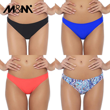 M&M 2019 Girls Sexy Low Waist Candy Colors Bikini Bottom Women Print Cheeky Smal