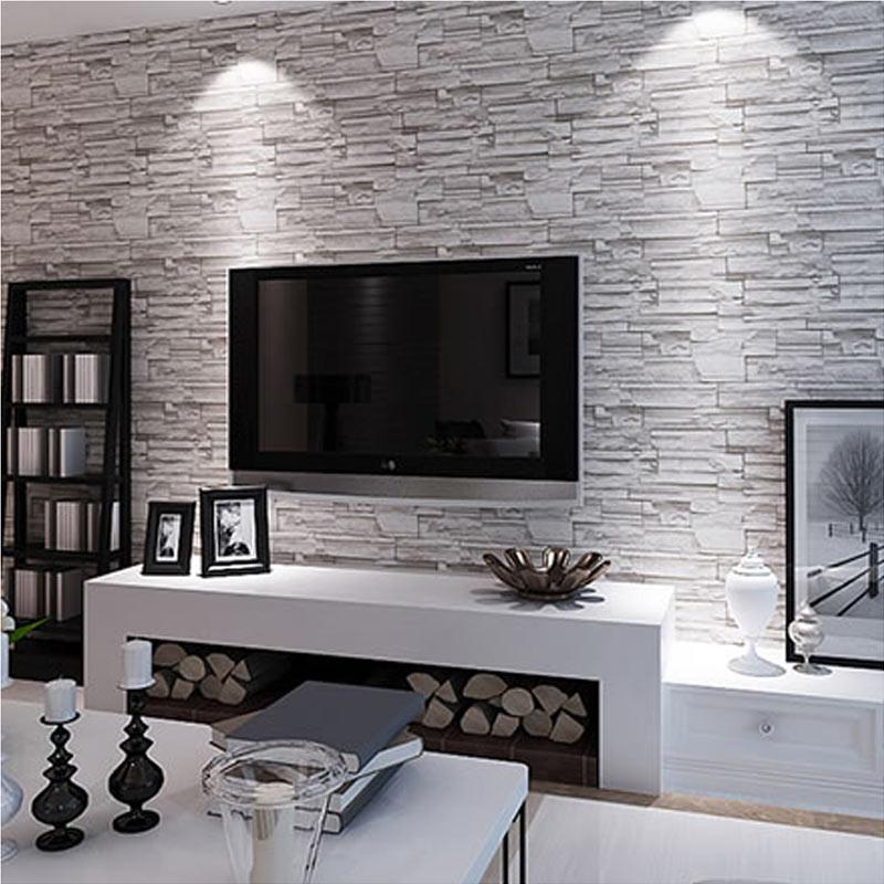 Wallpaper Accent Wall Ideas Living Room Amazing Interior: Compra Diseño De Piedra Papel Tapiz Online Al Por Mayor De