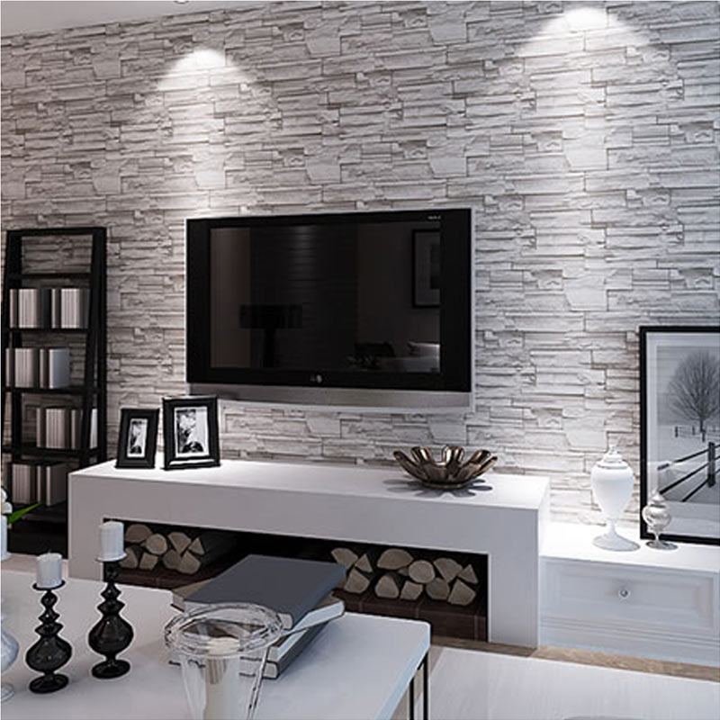 online kaufen gro handel 3d stein tapete aus china 3d. Black Bedroom Furniture Sets. Home Design Ideas