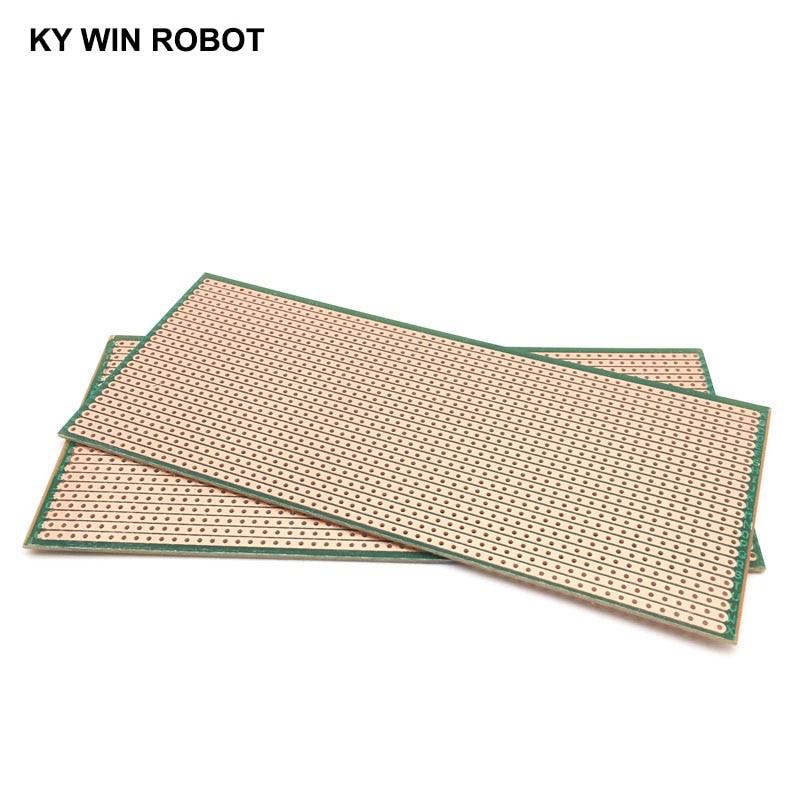 1pcs DIY Green 6.5*14.5CM Prototype Paper PCB Universal Experiment Matrix Circuit Board 6.5x14.5CM