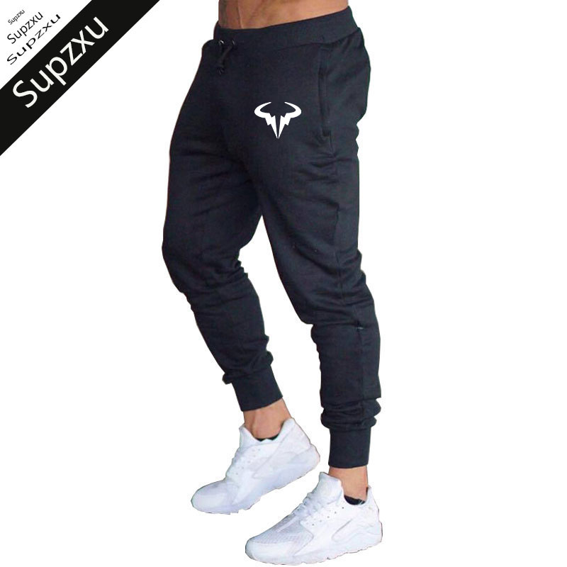 2018 fashion Men Print logo Cotton Jogger Pants Spring Autumn Male Casual Elastic Fitness Baggy Trousers Mens Winter Sweatpants