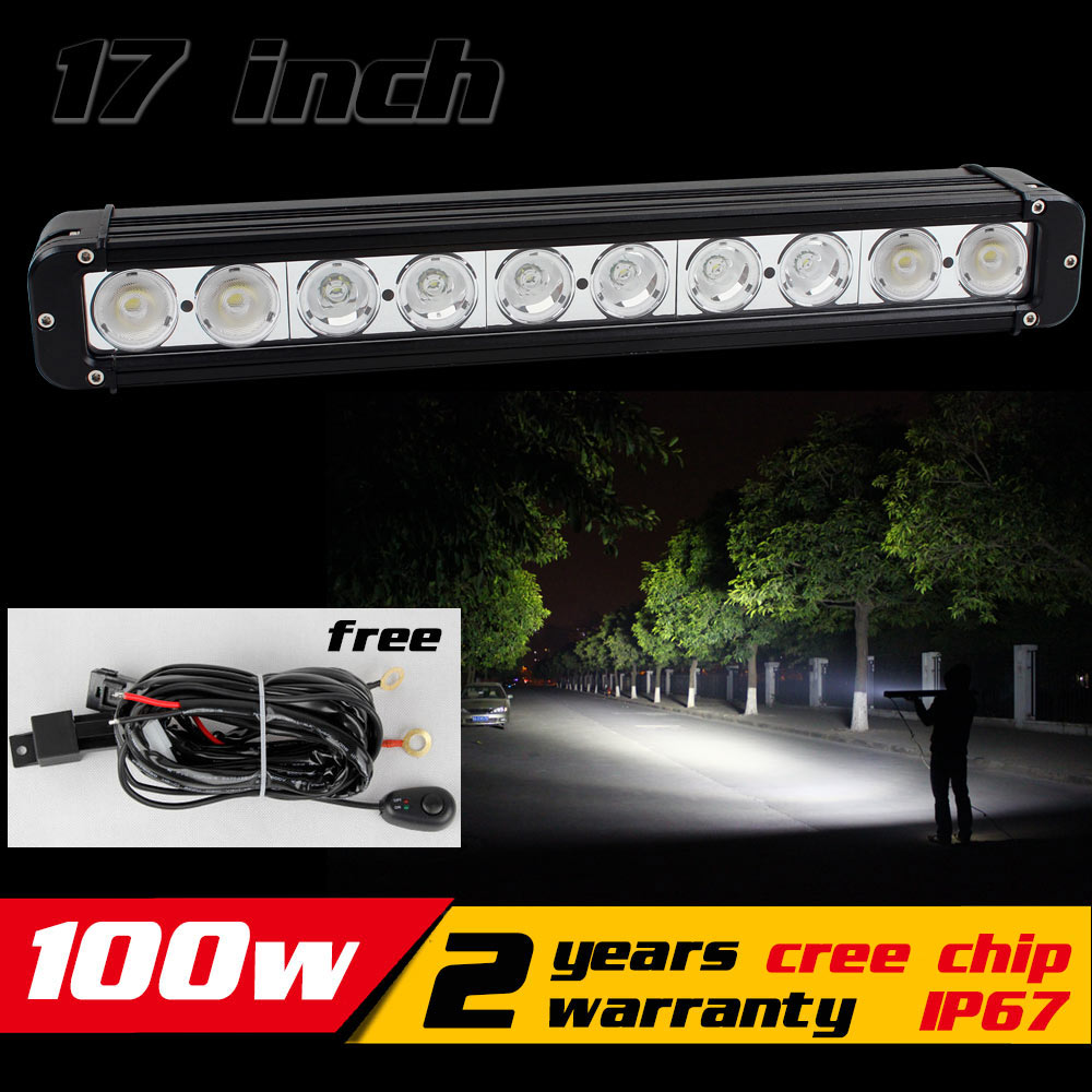17inch 100W LED Light Bar for Tractor ATV LED Bar Offroad Fog light  4X4 LED Offroad Light Bar IP67 Save on 120w 11 60w led work light bar wireless remote with strobe light tractor atv offroad fog light bar external light save on 72w