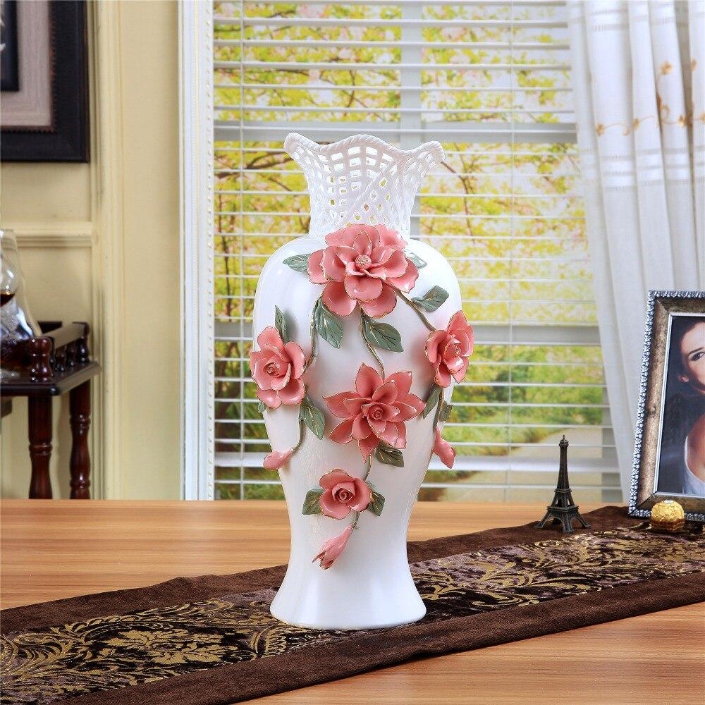 Ceramic big white modern flowers vase home decor large floor vases ceramic big white modern flowers vase home decor large floor vases for wedding decoration ceramic handicraft porcelain figurines in vases from home garden reviewsmspy