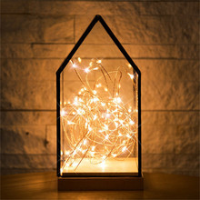 New 2M 20LEDs Copper Silver Wire LED String lights Waterproof Holiday lighting For Fairy Christmas Tree Wedding Party Decoration