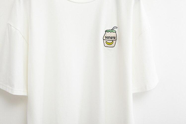 HTB12MAVKFXXXXa1XXXXq6xXFXXXi - Summer New Cute Banana Milk Embroidered T-shirts PTC 192