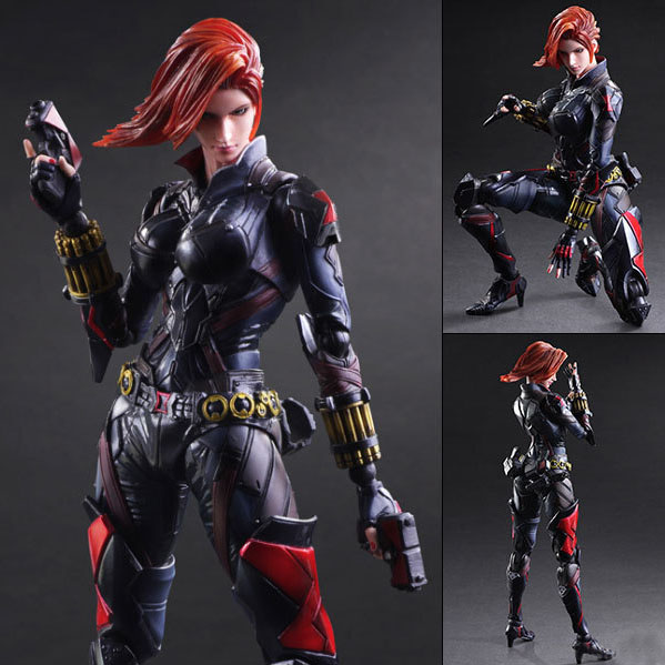 Free Shipping Cool 10 PA KAI The Avengers Black Widow Boxed 27cm PVC Action figure Collection Model Doll Toy Gift new hot 17cm avengers thor action figure toys collection christmas gift doll with box j h a c g