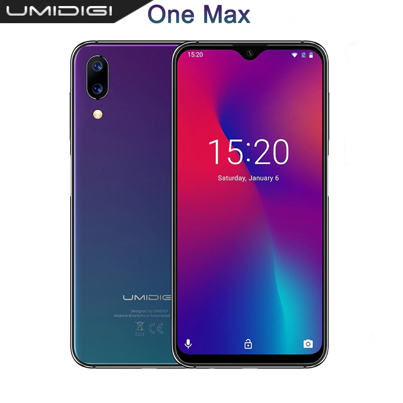UMIDIGI One Max 4GB 128GB 6 3 Waterdrop Full Screen 4150mAh Dual Camera Mobile phone NFC