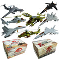 8PCS/Set 4D Plastic Assembled Airplane 1:165 Scale Puzzle Assembling Military Fighter Toys For Children Free Shipping