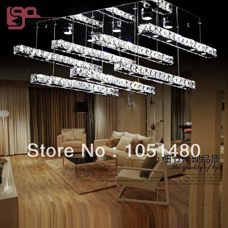 Лидер продаж заподлицо прямоугольный светодио дный светодиодный Кристалл лампы современный блеск фойе огни