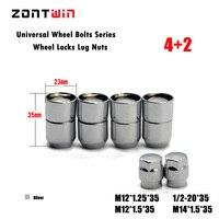 4nuts+2keys M12x1.5 Alloy Wheel Nut Locks, ANTI SHEFT NUT FOR the wheel/ rims of Corolla/Rav4/Crown/Pardo/Reiz/Hyundai
