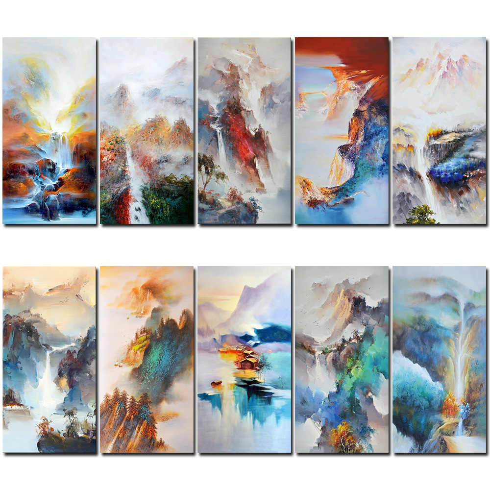 Oil  Painting Decor Nordic Modern Landscape Home Office Hotel Villa Club Wall Art Abstract Painting Home Decoration Accessories